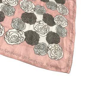 YSL Vintage Roses Printed Handpocket Scarf